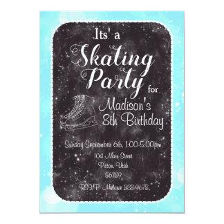 Convite do aniversário do patinagem artística