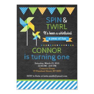 Convite do aniversário do Pinwheel