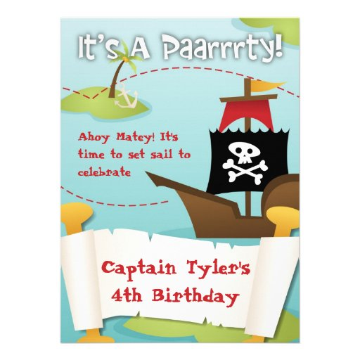 Convite do aniversário do pirata