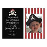 Convite do aniversário do pirata da imagem