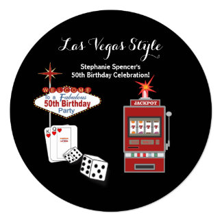Convite do aniversário do preto do estilo de Las