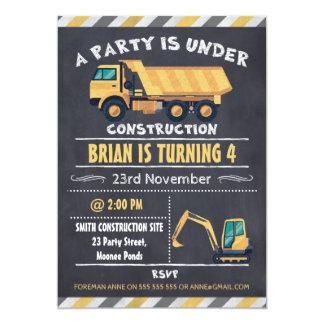 Convite do aniversário do quadro do caminhão da