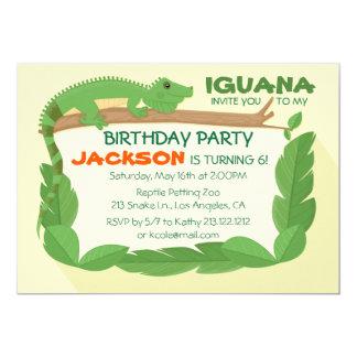 Convite do aniversário do réptil do lagarto da