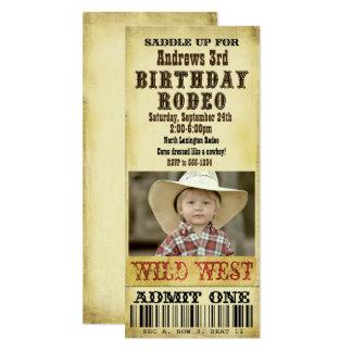 Convite do aniversário do rodeio