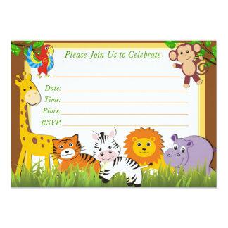 Convite do aniversário do safari, convite da selva