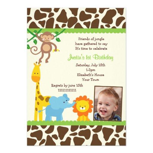 Convite do aniversário do safari de selva