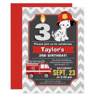 Convite do aniversário do sapador-bombeiro