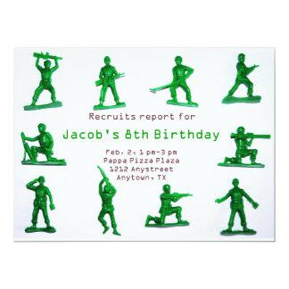 Convite do aniversário do tema do exército dos