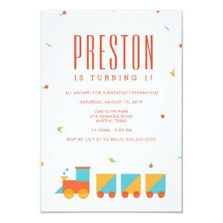 Convite do aniversário do trem do Tangram