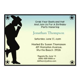 Convite do aniversário do vaqueiro