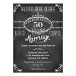 Convite do aniversário do vintage 50th do quadro