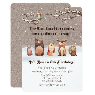 Convite do aniversário dos animais da floresta