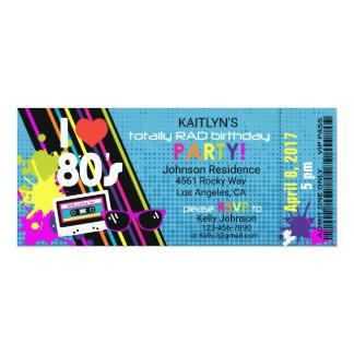 Convite do aniversário dos anos 80