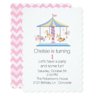 Convite do aniversário dos bebês animais do
