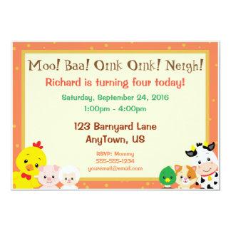 Convite do aniversário dos bebês do Barnyard
