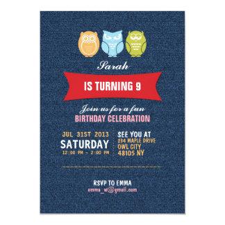 Convite do aniversário dos desenhos animados da