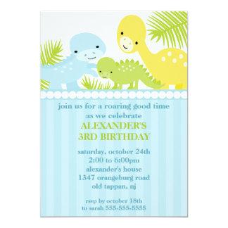 Convite do aniversário dos dinossauros do