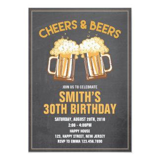 Convite do aniversário dos elogios & das cervejas