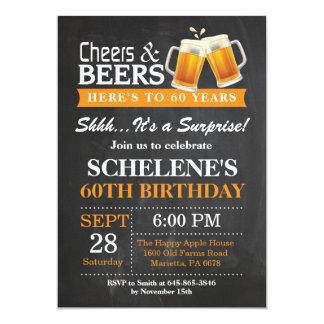 Convite do aniversário dos elogios e das cervejas