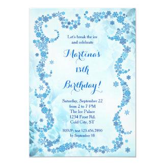 Convite do aniversário dos flocos de neve