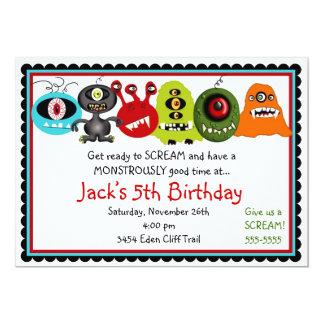 Convite do aniversário dos monstro