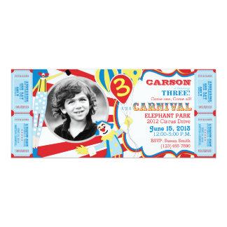 Convite do aniversário dos palhaços de circo