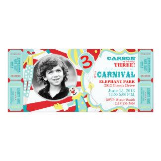 Convite do aniversário dos palhaços de circo do
