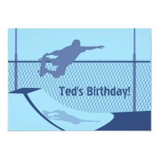 Convite do aniversário - skate