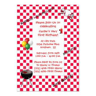 Convite do aniversário--Tablecloth Checkered