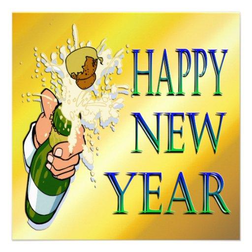 Convite do ano novo de Champagne