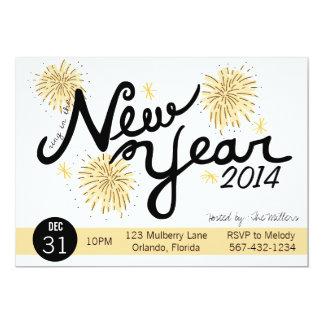 Convite do ano novo dos fogos-de-artifício