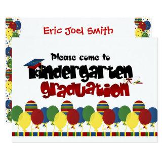 Convite do anúncio da graduação do jardim de