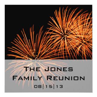 Convite do anúncio da reunião de família