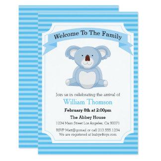 Convite do anúncio do Koala do nascimento do bebé