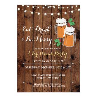 Convite do azevinho da festa de Natal das cervejas
