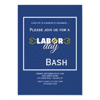 Convite do azul do Dia do Trabalhador