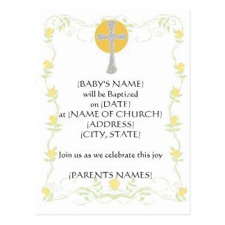 Convite do baptismo