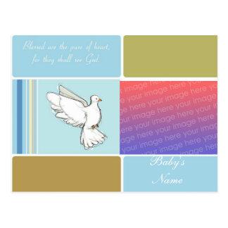 Convite do baptismo/batismo cartão postal