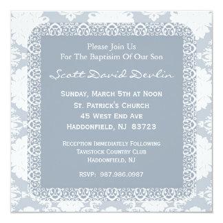 Convite do baptismo/batismo para o menino