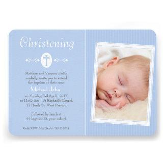 Convite do baptismo do batismo da foto dos meninos