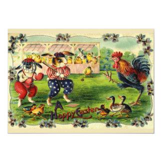 Convite do basebol do coelhinho da Páscoa