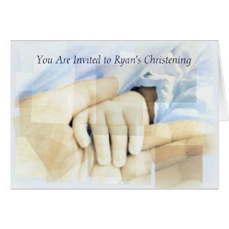 Convite do batismo/baptismo cartão comemorativo