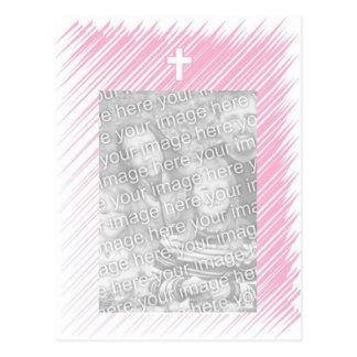 Convite do batismo/baptismo (menina) cartão postal