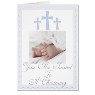 Convite do batismo/baptismo para o bebé cartão comemorativo