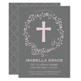 Convite do batismo do baptismo - o bebé convida