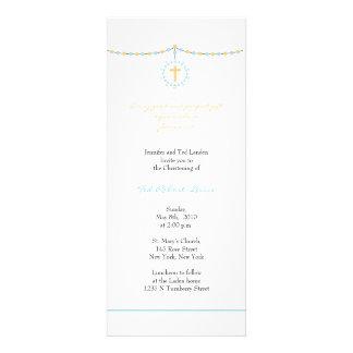 Convite do batismo do menino