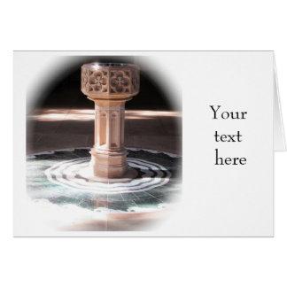 Convite do batismo - pia batismal da igreja cartão comemorativo