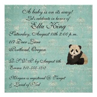 Convite do bebê dos ursos de panda
