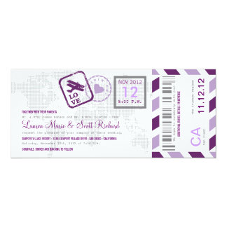 Convite do bilhete do correio aéreo da passagem de