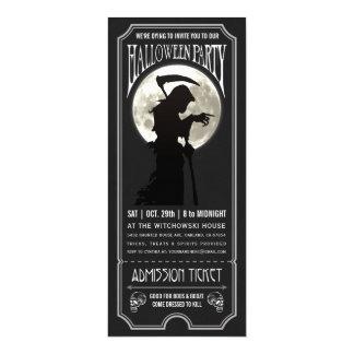 Convite do bilhete do partido do Dia das Bruxas